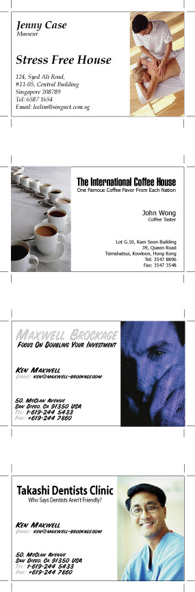 Feng Shui Business Card Samples